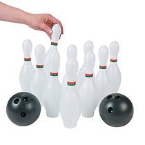 12 Pc Bowling Conjunto Fiesta Juguetes De Plástico Para Niñ