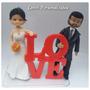 Topo De Bolo,noivinhos Love Biscuit Personalizados Casamento