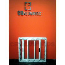 Ventana Aluminio Blanco 100x90 Linea Rotonda Cr 53