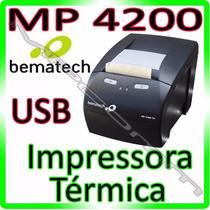 Impressora Bematech Mp4200 Não Fiscal Térmica Black - U S B