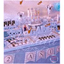 Candy Bar Con Ambientación Completa Golosinas/mantel/bases..
