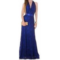 Lindo Vestido Renda Com Faixa Cetin Festa Noite Casamento