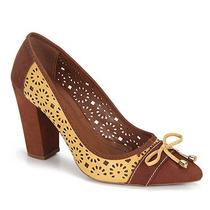 Sapato Scarpin Feminino Desmond - Amarelo