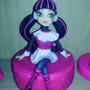 Monster High Draculaura Adorno Torta En Porcelana Fria