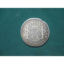 Moneda 2 Reales 1807 Pj, Potosi Bolivia Km # 71, De Plata