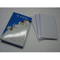 Paquete Hojas Para Elaborar Credenciales Pvc Por Laminación