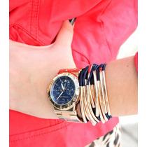Relogio Feminino Michael Kors Mk5410 Rose/azul Frete Gratis