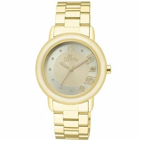 5bd3996f39a Relógio Allora Feminino Analógico Dourado Al2035bh 4x - R  170