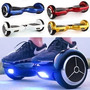 Scooter Skate Eléctrico Smart Balance Wheel + Bluetooh + Led
