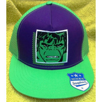 Gorra Beisbol Comics Hulk Visera Decorada - 100% Original