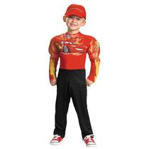 Disfraz Niño Rayo Mcqueen Cars 2 Con Musculos Original