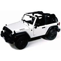 Maisto 1/18 Jeep Willys Wrangler 2014 Blanco Open Top Metal