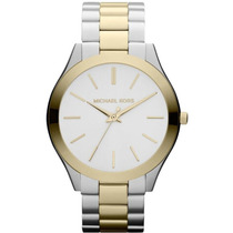 Relógio Michael Kors Mk3198 Prata E Dourado Frete Grátis