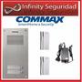 Portero Eléctrico Commax Para 2 Departamentos Kit Completo