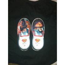 Zapatos Usados Pero Cuidados, Con Imagen De Súper Héroe.