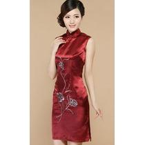 Vestido Chinês Japonês Qipao Festa Quimono + Pronta Entrega