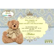25 Convites Personalizados Chá De Bebê Com Envelope E Selos