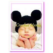Gorros Tejidos Crochet Niños Mikey Mouse Miky