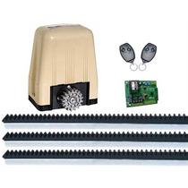 Kit Motor Para Portão Eletrônico Deslizante Dz3 400kg Turbo