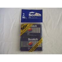 2 Audio Cassette Scotch Bx 90 Minutos Normal Bias