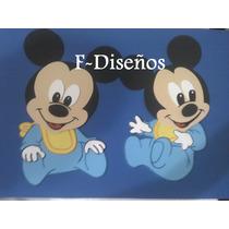 Figuras Apliques De Mickey Bebe En Goma Eva 30 Cm
