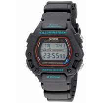 Reloj Casio Dw-290-1vsef 47mm Alarma Cronómetro Acuático Led