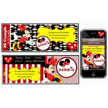 Kit Imprimible Minnie Mouse Rojo Y Negro