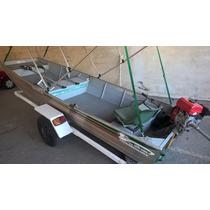 Barco De Alumínio 2014 C/ Motor De Rabeta Kawashima