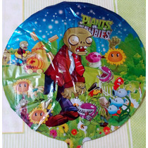 Globo 18 Metalizado Plantas Vs Zombies Feliz Cumpleaños