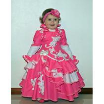 Vestido De Prenda Infantil 1-2 C/ Saia Armação Mod. Aisha