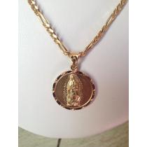 Dije Juan Pablo I I Y La Virgen En Chapa De Oro 22k C/cadena