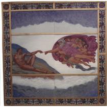 Vitral Decorativo Cupula Pintura Al Horno, Vidrio