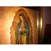 Virgen De Guadalupe - Imagen De 70 X 60 Cms Laminada En Oro