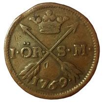 C C / Reino De Suecia - Adolf Frederick 1 Ore 1759