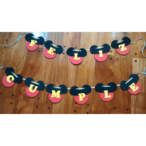 Banderines En Goma Eva - Minnie Y Mickey
