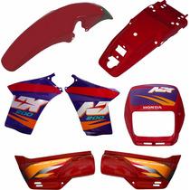 Kit De Carenagem Pintada Honda Nx 200 98 A 2001