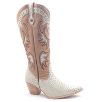 Bota Montaria Feminina Cano Alto Longo Texana Country Viaart