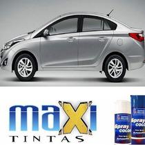 Tinta Spray Automotiva Hyundai Prata Metal Hb + Verniz 300ml