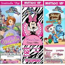 Invitaciones Infantiles Cumpleaños Personalizadas Tickets
