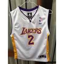 Camiseta Nba Rbk Usa L.a.lakers #2 Talle M 10/12