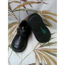 Zapatos Colegiales Escolares Valle Verde Talla 21 Negro Niño