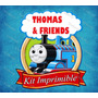 Kit Imprimible Tren Thomas Y Amigos Invitaciones Tarjetas