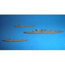 Antiguo Juguetes Lote Barcos De Guerra 1930 Dinky Plomo Crow