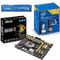 Kit Placa Mãe Asus B85m-g + Intel Core I5 4460 + 8gb