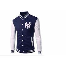 Jaqueta Casaco Colegial Varsity Baseball Ny