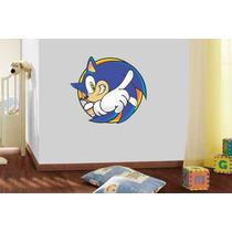Adesivo De Parede Quarto Infantil Criança Sonic Desenho