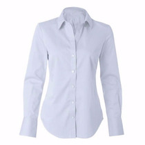 Camisete Camisa Branca Social Feminina Tricoline Misto