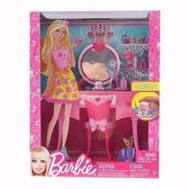 Peinadora Barbie Con Muñeca Incluida Original De Mattel