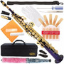 Saxofón Soprano 300-pr-purple/gold Keys Bb Straight