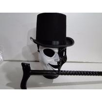 Bengala Cartola Mascara Branca Preta Halloween Jason Terror